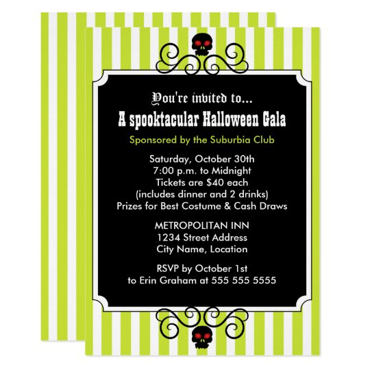 Halloween Gala Party Card