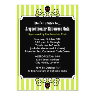 "Halloween Gala Party Invitation 5"" X 7"" Invitation Card"