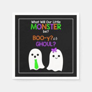 Halloween Gender Reveal Paper Napkins Paper Napkin
