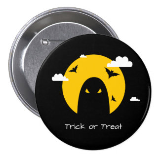Halloween ghost 7.5 cm round badge