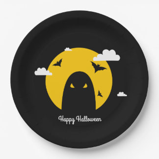 Halloween ghost 9 inch paper plate