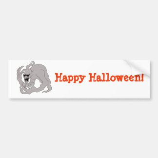 Halloween Ghost Art Bumper Sticker