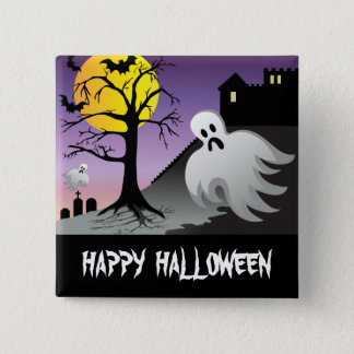 Halloween Ghost Bats 10% Off Sale 15 Cm Square Badge