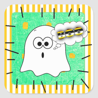 Halloween Ghost Boo Cute Patch Stickers