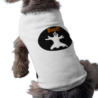 Halloween Ghost Dog Costume Sleeveless Dog Shirt