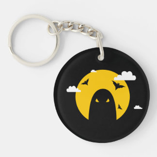 Halloween ghost Double-Sided round acrylic key ring