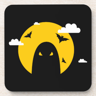 Halloween ghost drink coaster