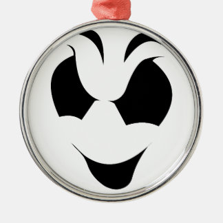 Halloween Ghost Face Silver-Colored Round Decoration