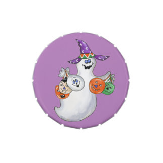 Halloween Ghost Jelly Belly Tin