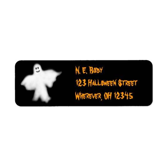 Halloween Ghost Label