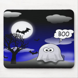 Halloween Ghost Mouse Pad