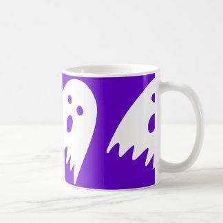 halloween ghost mug purple