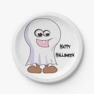 Halloween Ghost Paper Plates