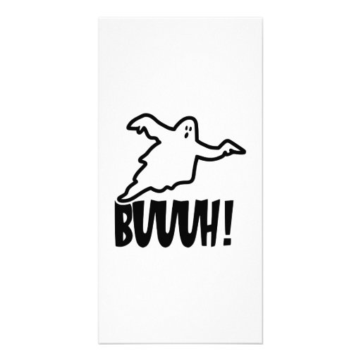 Halloween ghost personalized photo card