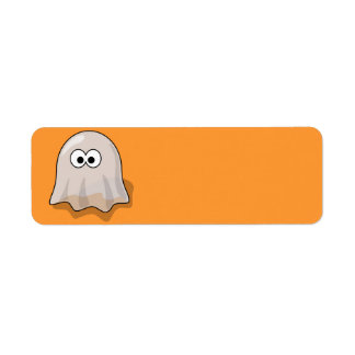 Halloween Ghost Return Address Label