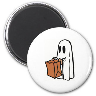 Halloween Ghost Trick-or-Treat Magnet