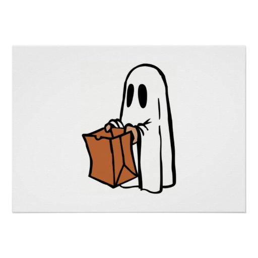 Halloween Ghost Trick-or-Treat Poster