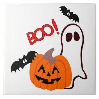 Halloween Ghost with pumpkin Tile
