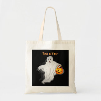 Halloween Ghost with pumpkin Tote Bag