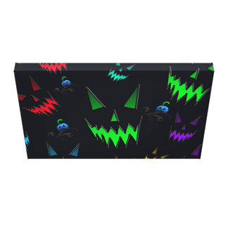 Halloween Ghostly Jack O' Lanterns Canvas Prints