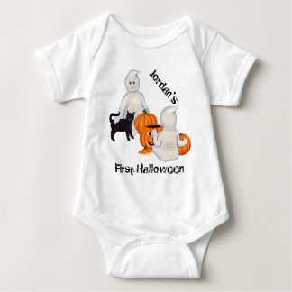 Halloween Ghosts and Friends Baby Bodysuit