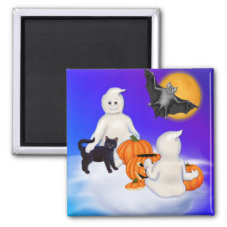 Halloween Ghosts and Friends Magnet