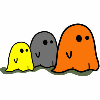 Halloween Ghosts Cute Photo Sculpture