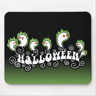 Halloween Ghosts Mouse Pad