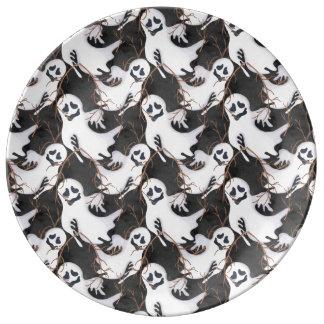 Halloween Ghosts Plate