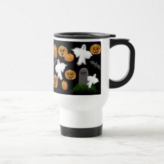 Halloween Ghosts & Pumpkins Travel Mug
