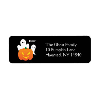 Halloween Ghosts Return Address Label