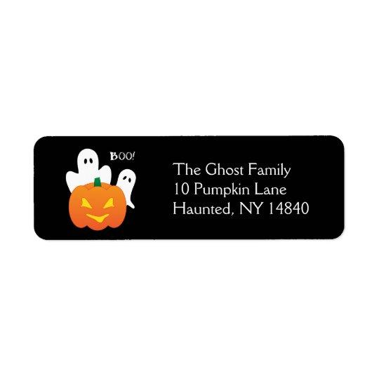 Halloween Ghosts Return Address Label