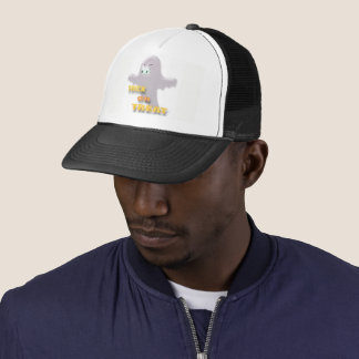Halloween ghosts trucker hat