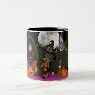 Halloween Gift Mug with cute little witch