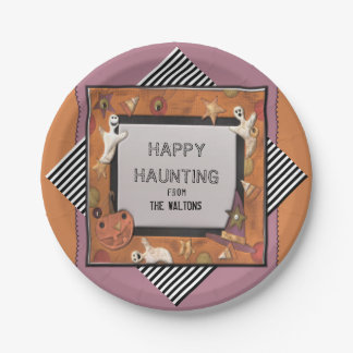 Halloween gift paper plate