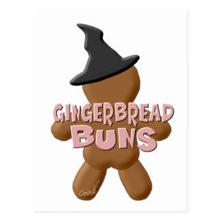 Halloween Gingerbread Buns Postcard