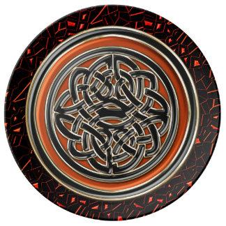 Halloween Glitter Celtic Knot Plate