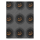 Halloween Glowing Jack O'Lantern in a black swirl Tablecloth