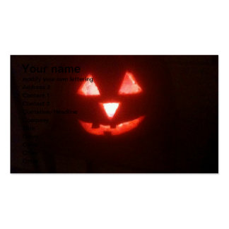 Halloween glowing pumkin business cards