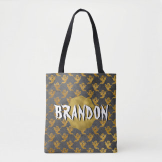 Halloween Gold Foil Ghost Name Candy Bag