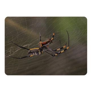 Halloween Golden Spider 13 Cm X 18 Cm Invitation Card