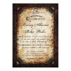 Halloween Gothic Brown Skeleton Wedding RECEPTION Card