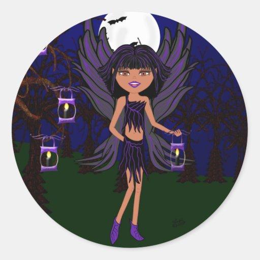 Halloween Gothic Faery Raven Hallow Sticker