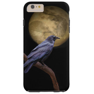 Halloween, Gothic Style Raven and Moon Tough iPhone 6 Plus Case