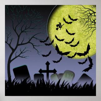 Halloween Grave yard Poster