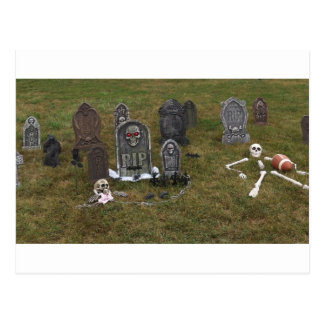 Halloween Grave Yard with Tombstones Post Card