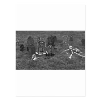 Halloween Grave Yard with Tombstones Postcard