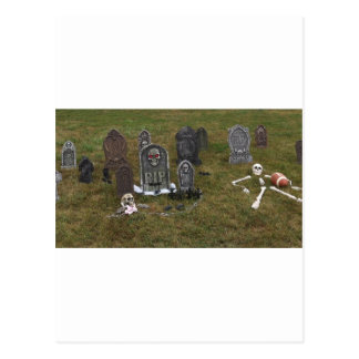 Halloween Grave Yard with Tombstones Post Cards