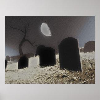 Halloween Graveyard Poster