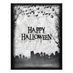 Halloween Graveyard Scene Silhouette Personalised Flyer